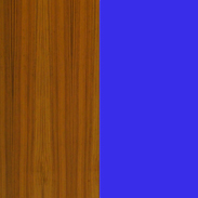 Teak with Blue Back Painted glass