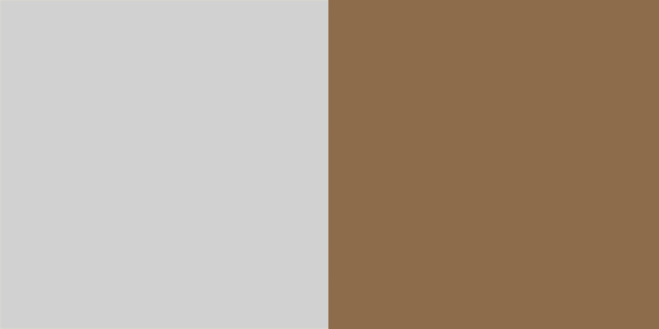 grey with brown metal